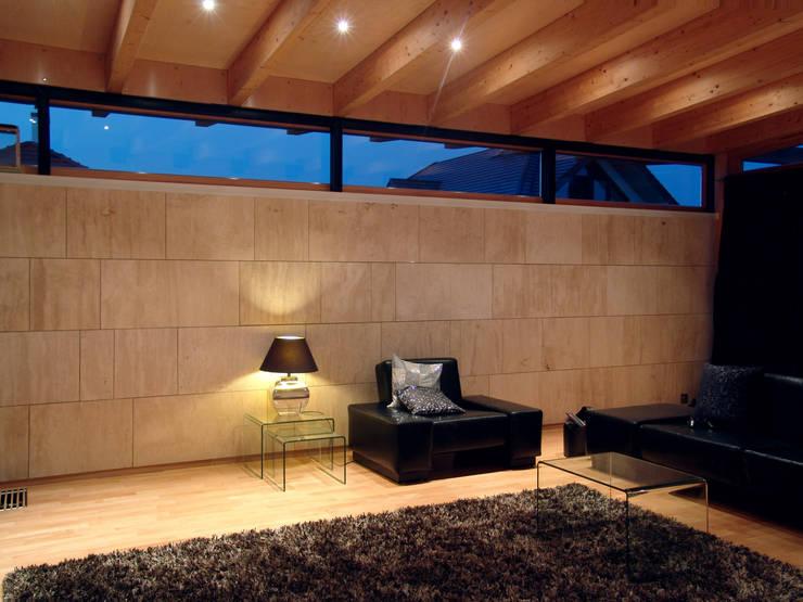 Dom nad jeziorem pod Olsztynem: styl , w kategorii Salon zaprojektowany przez CAA ARCHITEKCI