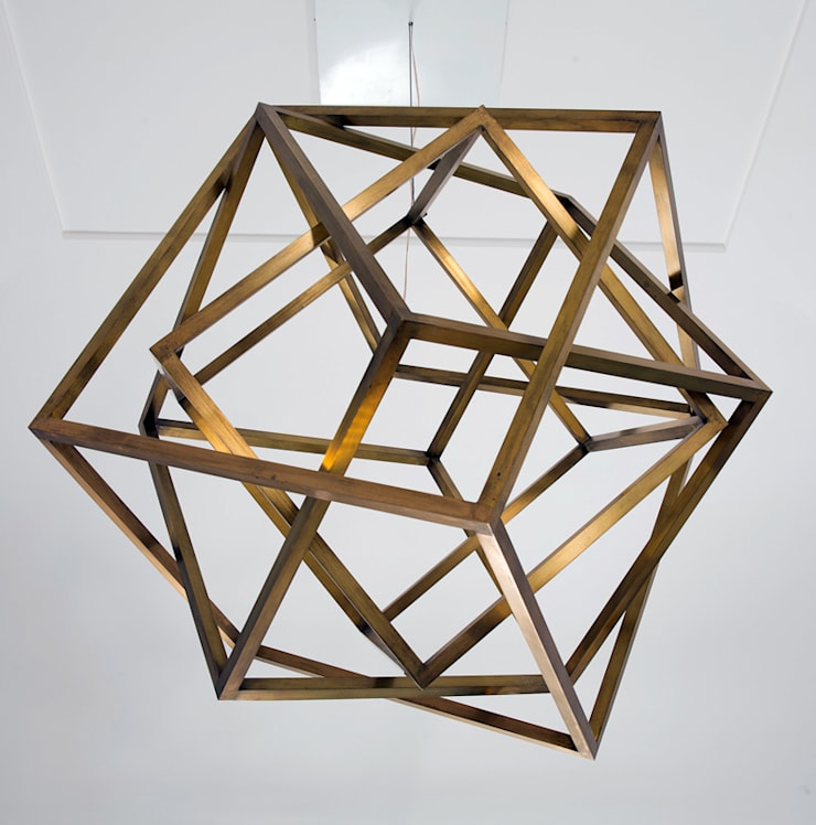 Cubing, suspended light sculpture:  in stile  di Francesco Della Femina