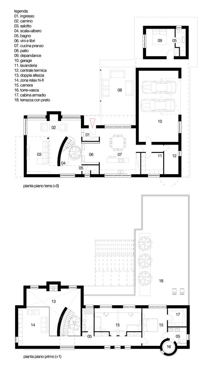 planimetria: Case in stile  di m12 architettura design
