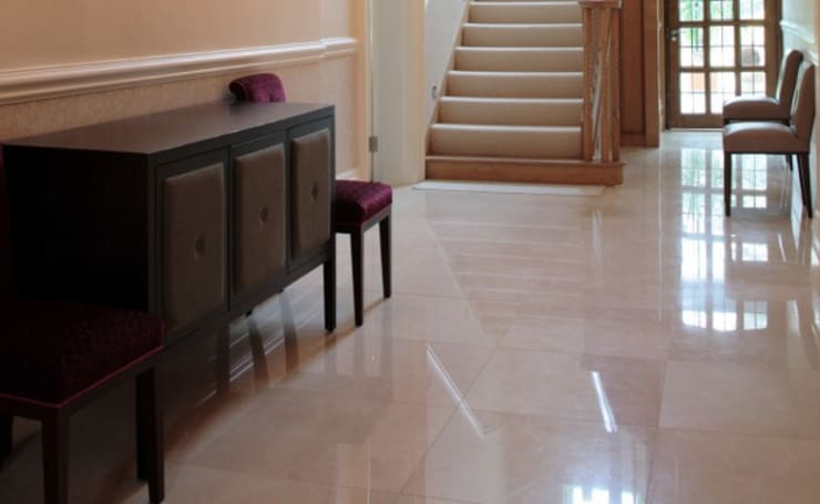 LONDON MARBLE HALL WAY:  Walls & flooring by Tile Supply Solutions Ltd
