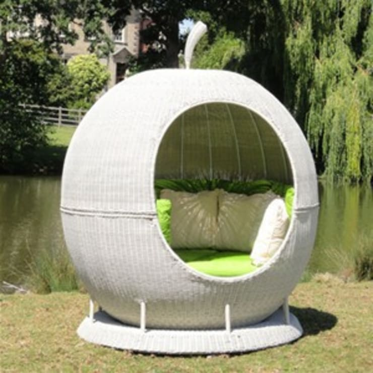 White Rotating Apple Daybed:  Garden  by Commercial Furniture UK LTD