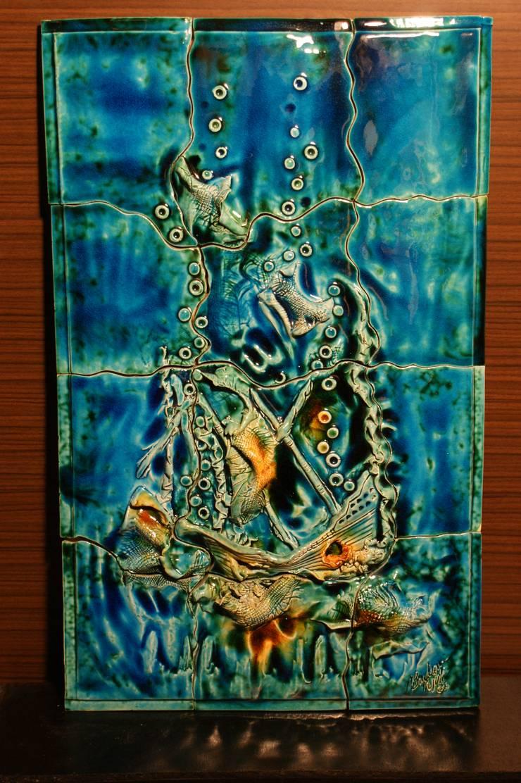 Ahmet Nejat Birdevrim – Batık Gemi Pano:  tarz Sanat