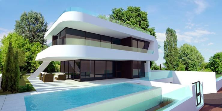 Chalets minimalistas:  de estilo  de santacruz y asociados estudio de arquitectura