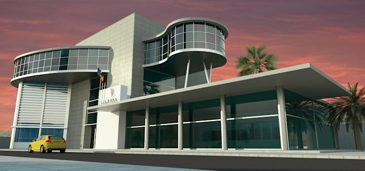 Biblioteca pública:  de estilo  de santacruz y asociados estudio de arquitectura