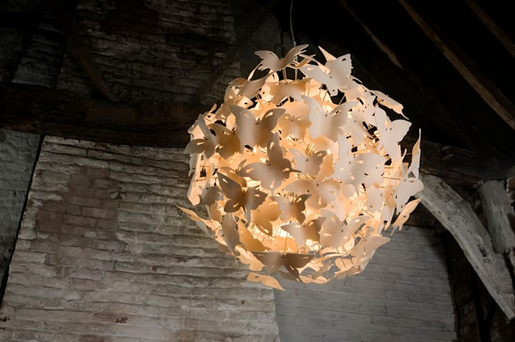 Butterfly Ball Chandelier:  Living room by Boatswain Lighting