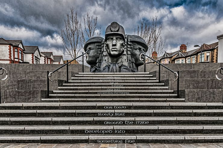 Bargoed Miners:  Corridor, hallway & stairs by Steve Purnell