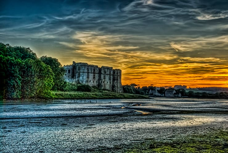 Carew Castle Pembrokeshire At Sunset:  Corridor, hallway & stairs by Steve Purnell