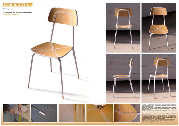 CONCITA… la sedia cucita: Sala da pranzo in stile  di REALIZZATORI DI IDEE
