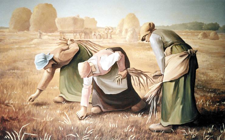 LE SPIGOLATRICI by Millet, pannello decorativo per agriturismo:  in stile  di ITALIAN DECOR,