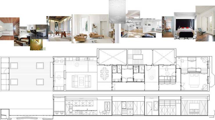Plano y ambientes:  de estilo  de Diseño y Comunicación Online