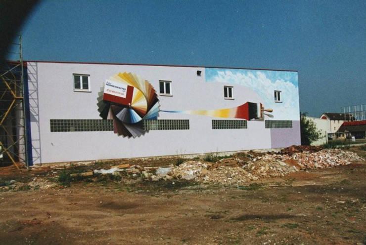 Facade peinte en trompe-l'oeil pour professionnel:  de style  par THIERRY HERR