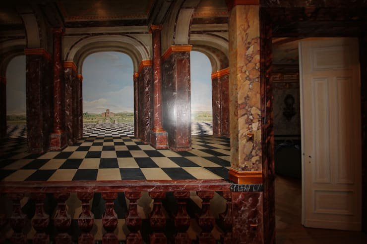 Ensemble trompe-l'oeil et imitation marbre:  de style  par THIERRY HERR
