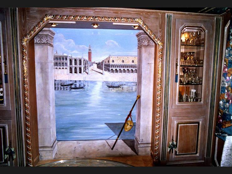 Trompe-l'oeil réalisé dans un style vénitien:  de style  par THIERRY HERR