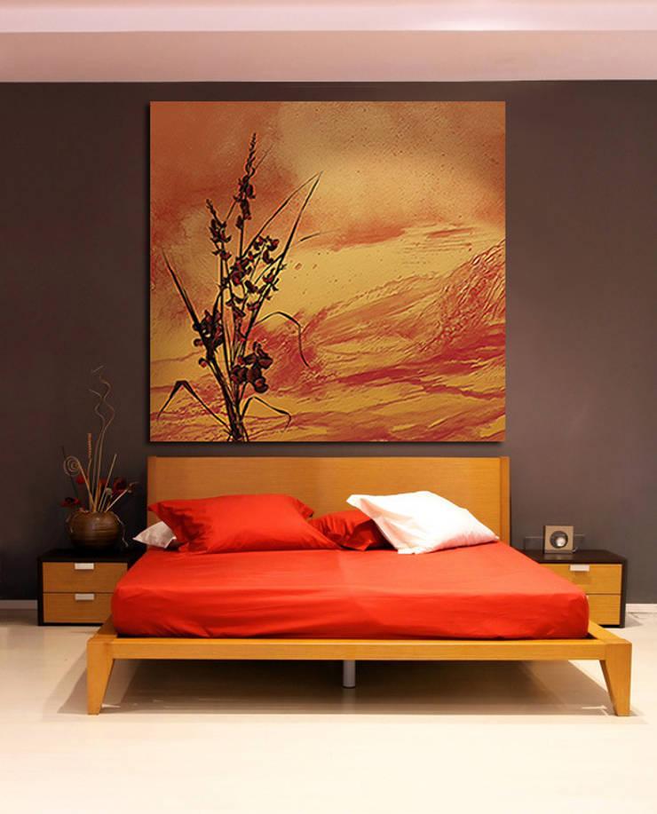 Poster mural design en tete de lit: Murs & Sols de style  par Belmon Déco