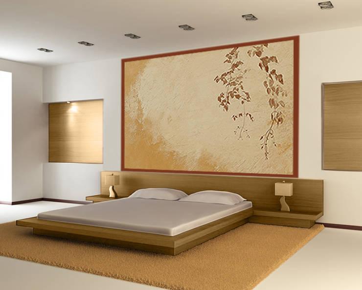 Poster xxl design, effet de matière et grahisme liane.: Murs & Sols de style  par Belmon Déco