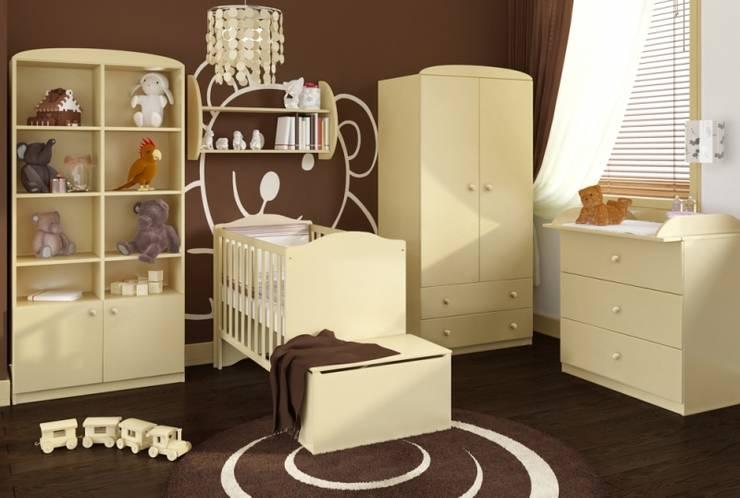 Babyzimmer Vanille:  Kinderzimmer von Möbelgeschäft MEBLIK