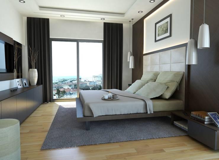 MONO MİMARLIK İNŞAAT의  침실