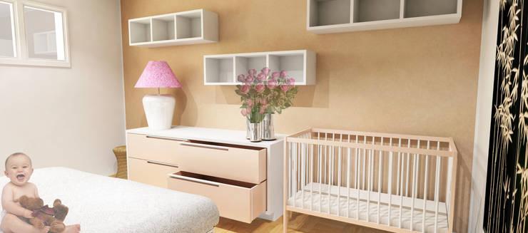 Dormitorios de estilo  por Caterina Paltrinieri Architetto