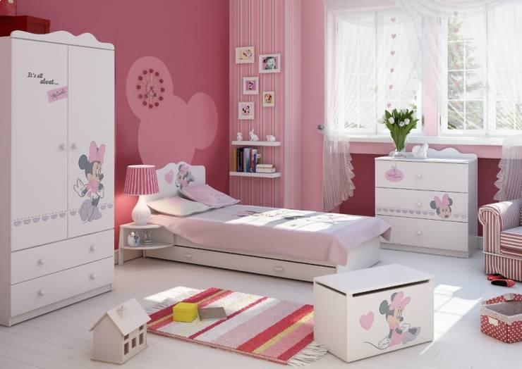 Kinderzimmer Minnie Mouse: moderne Kinderzimmer von Möbelgeschäft MEBLIK