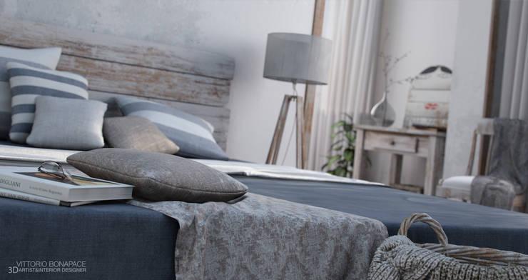 Villa Vittoni - Camera da Letto: Camera da letto in stile  di Vittorio Bonapace 3D Artist and Interior Designer