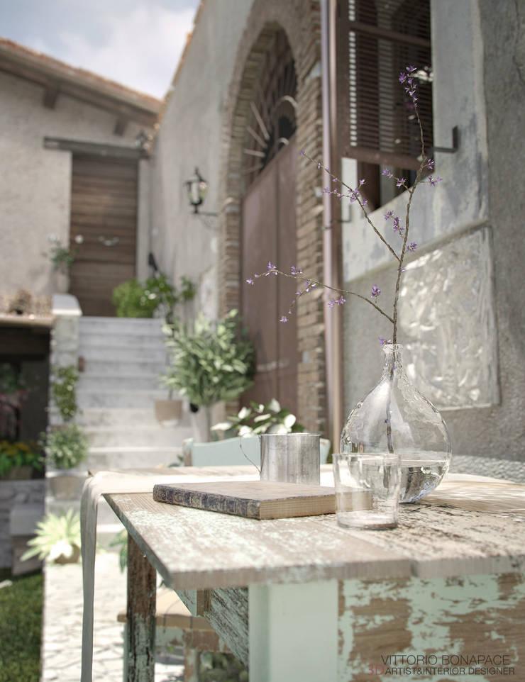 Villa Vittoni - Dettaglio Esterno: Giardino in stile  di Vittorio Bonapace 3D Artist and Interior Designer