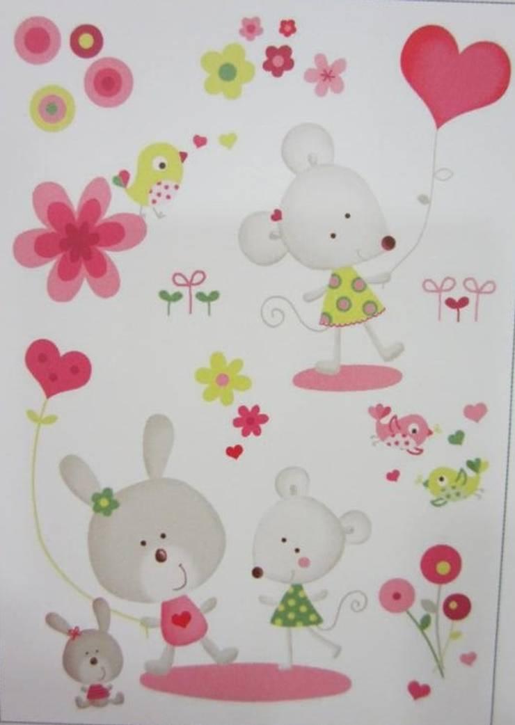 Adhesivo Miss Mouse2: Habitaciones infantiles de estilo  de MEDINA AZAHARA