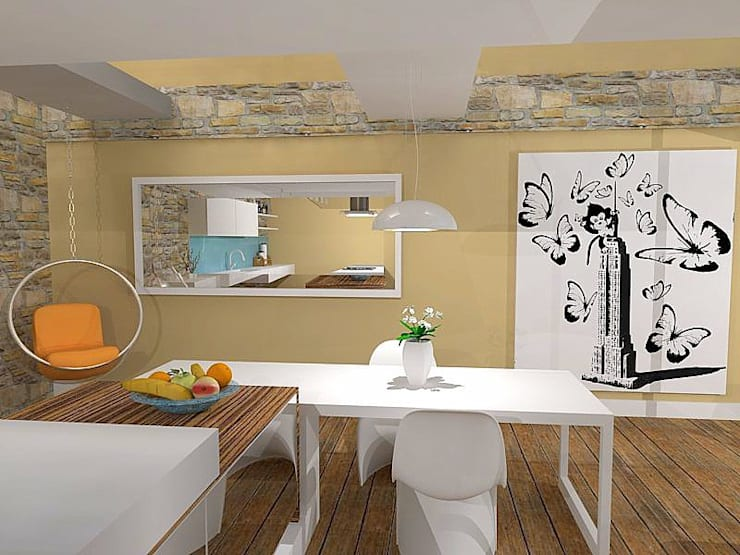 Loft Apartment modernisation and interior design:  Houses by ULA Interiors