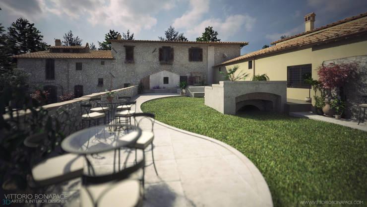 Villa Vittoni - Esterno: Case in stile  di Vittorio Bonapace 3D Artist and Interior Designer