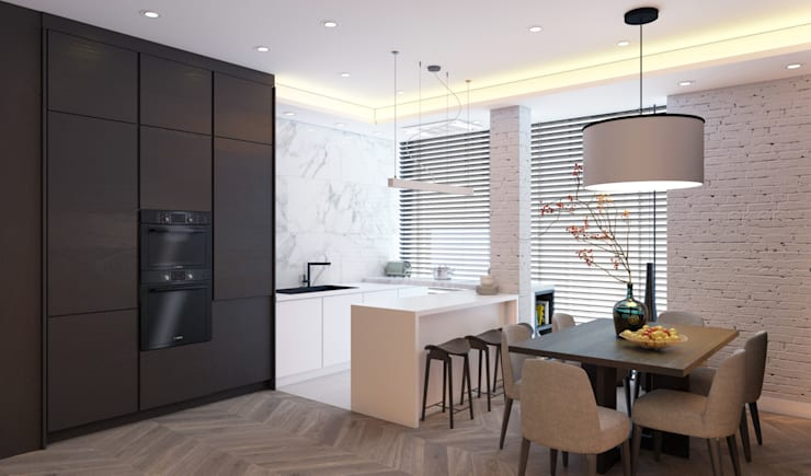 Летняя квартира у Черного моря: Кухни в . Автор – Котова Ольга