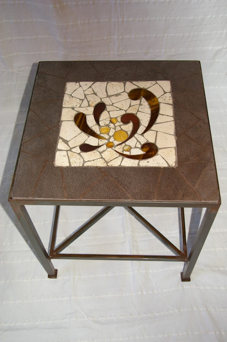 Mobilier: Salon de style de style eclectique par CREDEMO (CREation DEcoration MOsaique