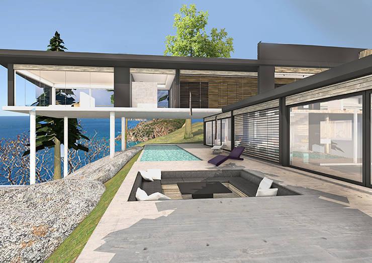 Aménager une villa de bord de mer…: Paysagisme d'intérieur de style  par Camille&Tifany