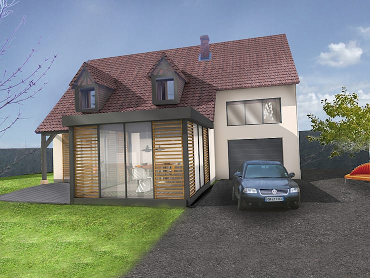 Concevoir un pavillon sous un autre jour.:  de style  par Camille&Tifany