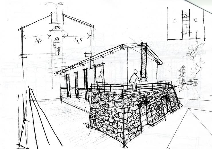 Villa unifamiliare a Bastia Umbra (PG):  in stile  di Fabricamus - Architettura e Ingegneria