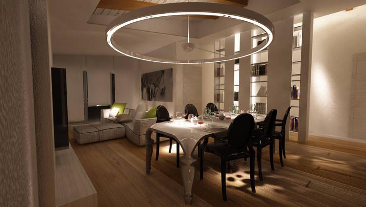 LUCE CHE ARREDA: Sala da pranzo in stile in stile Moderno di Studio di Segni