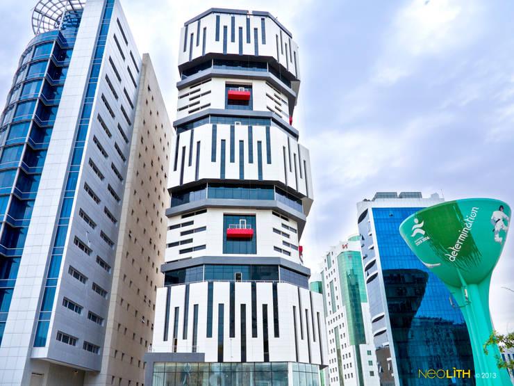 NEOLITH: Carácter Geométrico, Edificio Salata:  de estilo  de NEOLITH by TheSize