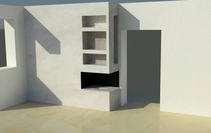 Progetto camino a bioetanolo personalizzato: Giardino in stile  di Fuocobio