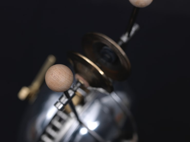 Beechwood sphere on chime mechanism:  Household by BLOTT WORKS