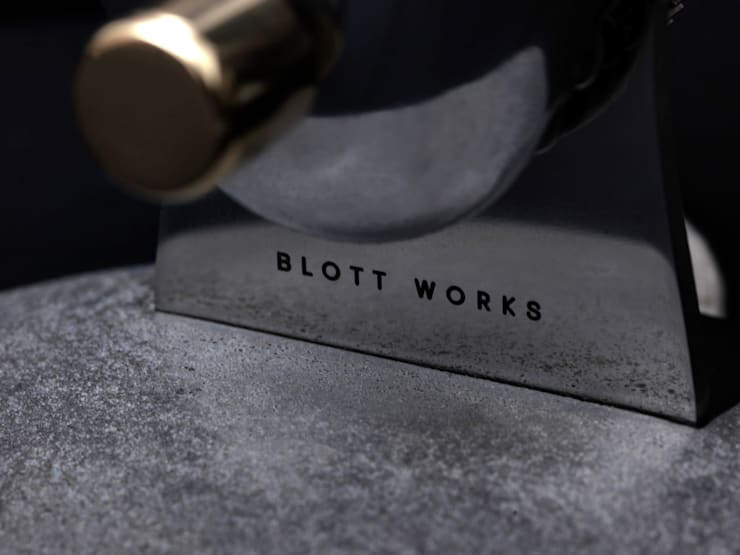 Concrete base with Stainless Steel upright:  Household by BLOTT WORKS
