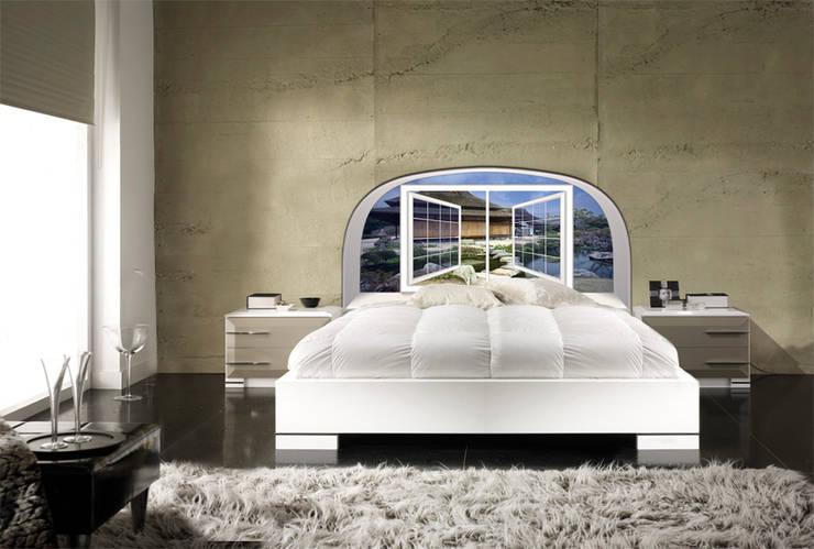 Cabezal de cama: Dormitorios de estilo ecléctico de Tapi Sueños