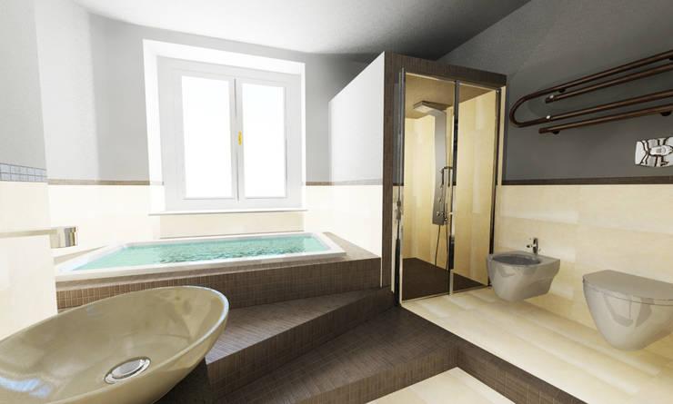 UNA SPA IN CASA...: Bagno in stile  di Inarte Progetti di Lucio Mana