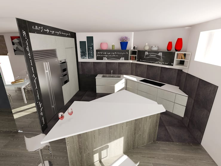Cocinas de estilo moderno por Inarte Progetti di Lucio Mana