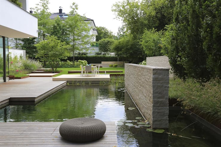 BIOTOP Natural Pool—City Centre Oasis:   by BIOTOP Landschaftsgestaltung GmbH