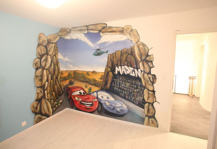 Chambre Cars pour Maden:  de style  par BAROGRAFF