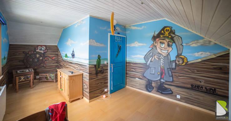 Chambre Enfant complète Thème Pirate:  de style  par BAROGRAFF