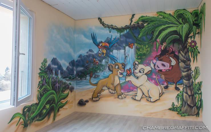 Le Roi Lion Chambre graffiti:  de style  par BAROGRAFF