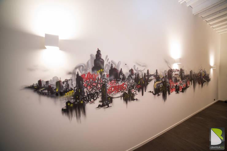 Frise Graffik Graffiti Loft Genève (Suisse):  de style  par BAROGRAFF