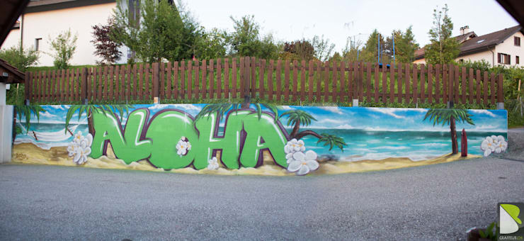 Aloha paysage Mur Garage:  de style  par BAROGRAFF
