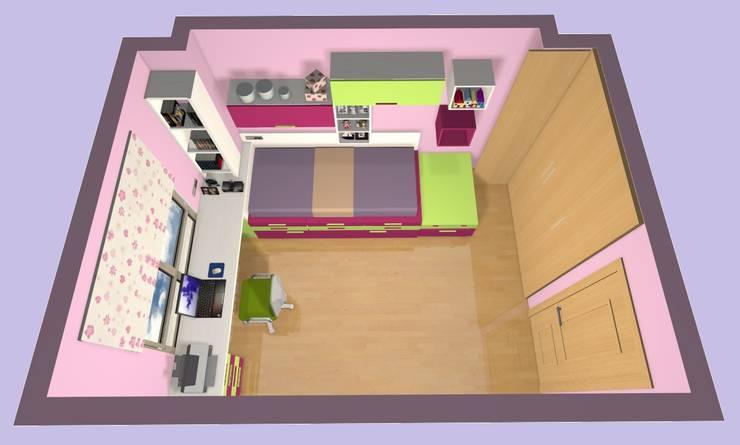 PROYECTOS DE AMUEBLAMIENTO VIRTUAL DE JUVENILES by Muebles ANTOÑÁN : Habitaciones infantiles de estilo  de Muebles Antoñán