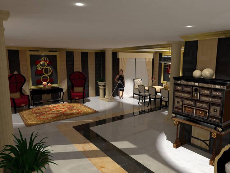 Diseño clásico con pinceladas modernas / Classic design with a modern touch: Salones de estilo  de Julia Design