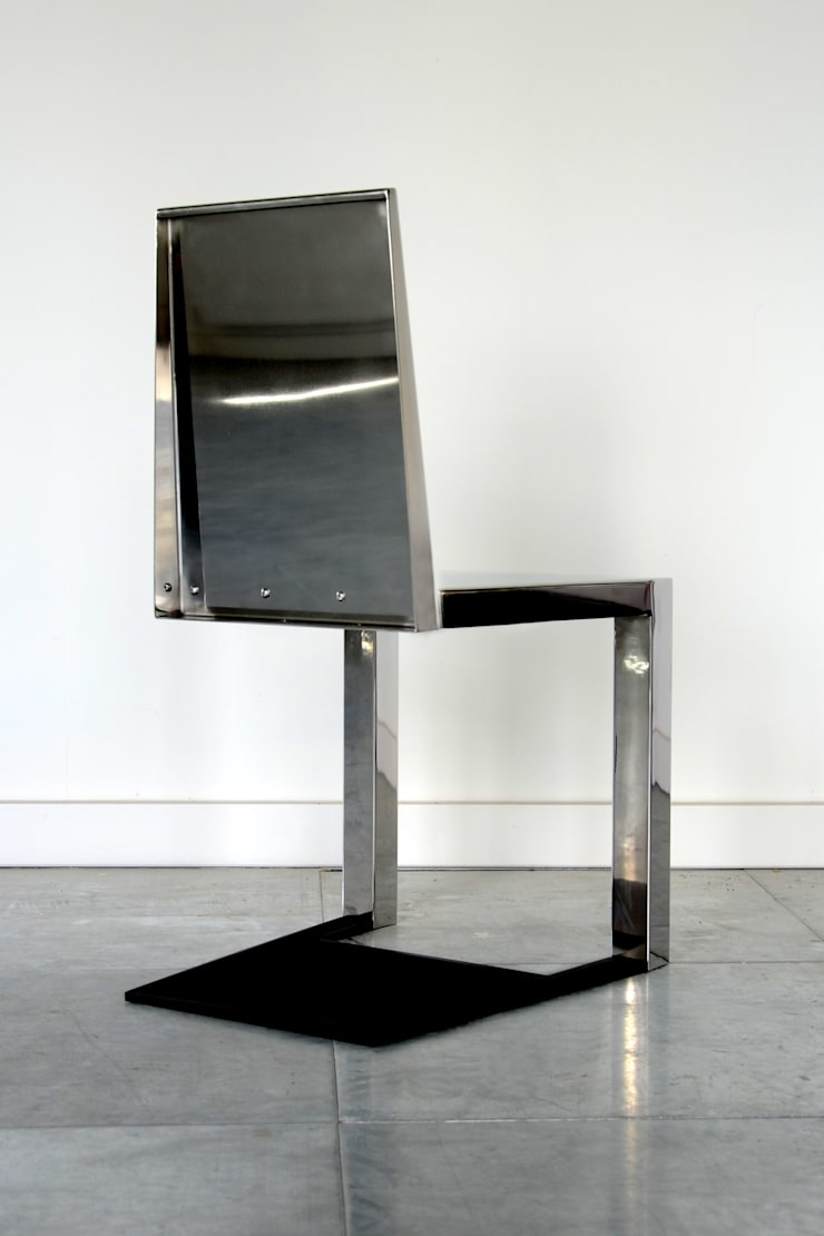 Stainless Steel Shadow Chair:  Kitchen by Duffy London